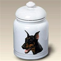 Doberman Pinscher Treat Jar