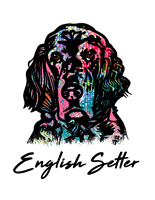 English Setter T Shirt Colorful Abstract