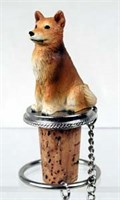 Finnish Spitz Bottle Stopper