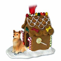 Finnish Spitz Gingerbread House Christmas Ornament