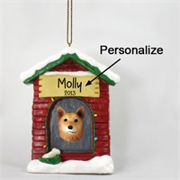 Finnish Spitz Personalized Dog House Christmas Ornament