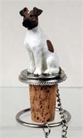 Fox Terrier Bottle Stopper (Brown & White)
