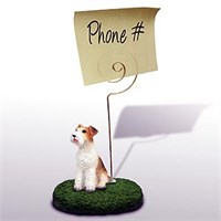 fox terrier wire note holder 13530 Fox Terrier Note Holder (Wire Haired)