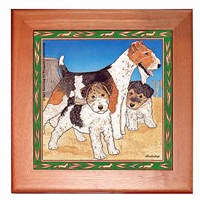 Wire Fox Terrier Trivet