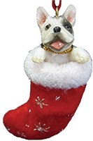 French Bulldog Christmas Ornament Stocking