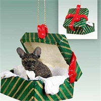 French Bulldog Christmas Ornament Gift Box