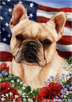 French Bulldog House Flag