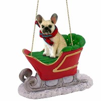 French Bulldog Christmas Ornament Sleigh Ride
