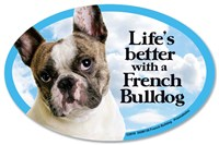 French Bulldog Car Magnet - Life's Better