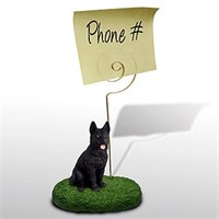 German Shepherd Note Holder (Black)