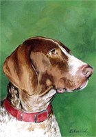 German Shorthaired Pointer House Flag