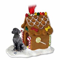German Shorthaired Pointer Gingerbread House Christmas Ornament