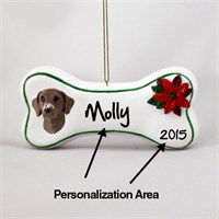 German Shorthaired Pointer Personalized Dog Bone Christmas Ornament