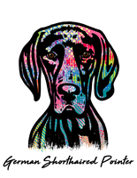 German Shorthaired Pointer T Shirt Colorful Abstract