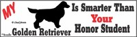 Golden Retriever Bumper Sticker Honor Student