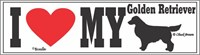 Golden Retriever Bumper Sticker I Love My