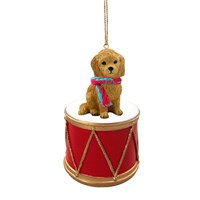 Goldendoodle Little Drummer Christmas Ornament