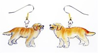 Goldendoodle Earrings Hand Painted Acrylic