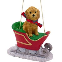 Goldendoodle Sleigh Ride Christmas Ornament