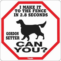 Gordon Setter 2.8 Seconds Sign