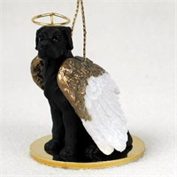 Great Dane Angel Ornament Black Uncropped