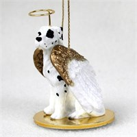 Great Dane Angel Ornament Harlequin Uncropped