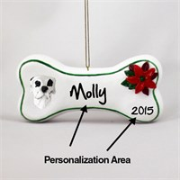 Great Dane Personalized Dog Bone Christmas Ornament Harlequin Uncropped