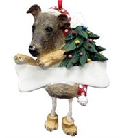Greyhound Ornament (Brindle)