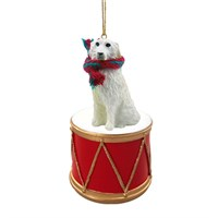 Great Pyrenees Little Drummer Christmas Ornament