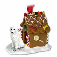 Great Pyrenees Gingerbread House Christmas Ornament
