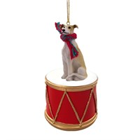 Greyhound Little Drummer Christmas Ornament