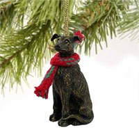 Greyhound Christmas Ornament Brindle