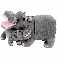 Hippo With Baby Plush Stuffed Animal 18""