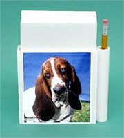 Basset Hound Hold-a-Note