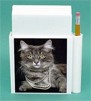 Gray Cat Hold-a-Note