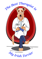 Irish Terrier T Shirt Best Therapist