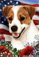 Jack Russell Terrier House Flag