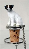 Jack Russell Terrier Bottle Stopper Brown White Rough