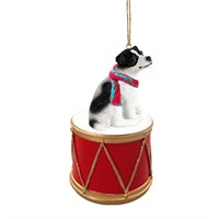 Jack Russell Terrier Black-White Smooth Little Drummer Christmas Ornament