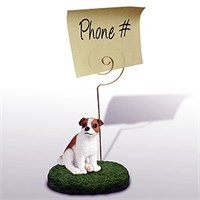Jack Russell Terrier Note Holder (Brown & White Smooth)