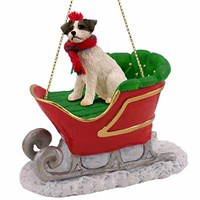 Jack Russell Terrier Christmas Ornament Sleigh Ride