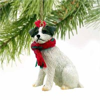 Jack Russell Terrier Tiny One Christmas Ornament Brown-White