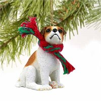 Jack Russell Terrier Tiny One Christmas Ornament Brown-White Smooth Coat