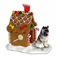 Keeshond Gingerbread House Christmas Ornament