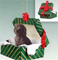 Labradoodle Gift Box Christmas Ornament Chocolate