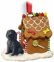 Labradoodle Gingerbread House Christmas Ornament Chocolate