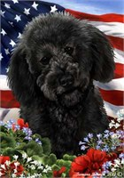 Labradoodle House Flag Black