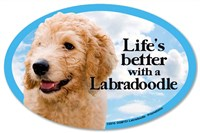 Labradoodle Car Magnet - Life's Better