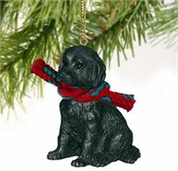 Labradoodle Christmas Ornament Black
