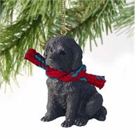 Labradoodle Christmas Ornament Chocolate